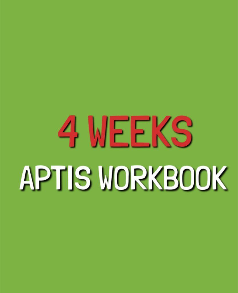 Protegido: APTIS WORKBOOK  – 4 WEEKS